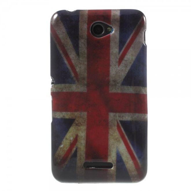 Sony Xperia E4/E4 Dual Elastisches Plastik Case mit UK Flagge retro-style