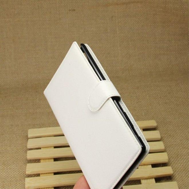 Sony Xperia T3 Leder Case mit Litchitextur und Standfunktion - weiss
