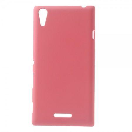 Sony Xperia T3 Gummiertes Hart Plastik Case - pink