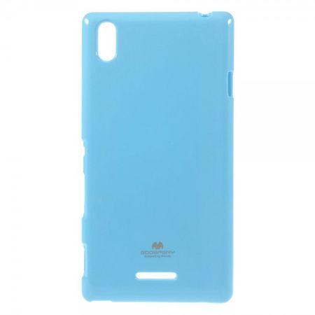 Goospery - Sony Xperia T3 Handy Hülle - TPU Soft Case - Pearl Jelly Series - himmelblau