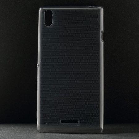 Sony Xperia T3 Ultradünnes (0.6mm), elastisches Plastik Case - grau