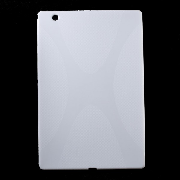 Sony Xperia Z4 Tablet Elastisches Plastik Case X-Shape - weiss
