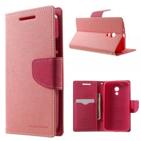 Goospery - Motorola Moto G (2 Gen) Hülle - Handy Bookcover - Fancy Diary Series - rosa/pink