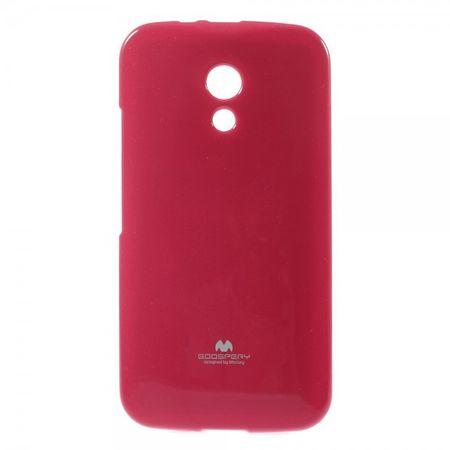 Mercury Goospery - Motorola Moto G (2nd Gen) Handy Hülle - Case aus elastischem Plastik - Pearl Jelly Series - pink