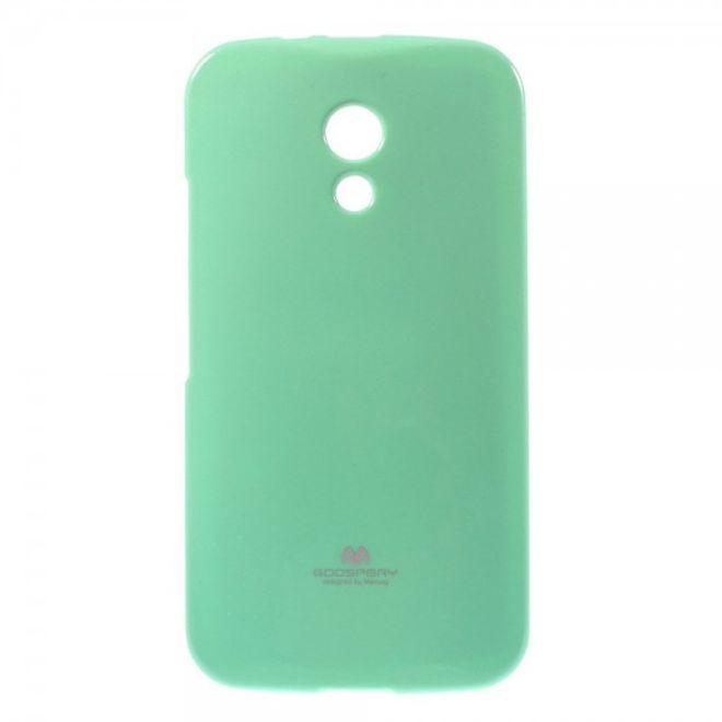 Goospery Motorola Moto G (2 Gen) Mercury Goospery Leicht glitzerndes, elastisches Plastik Case - cyan