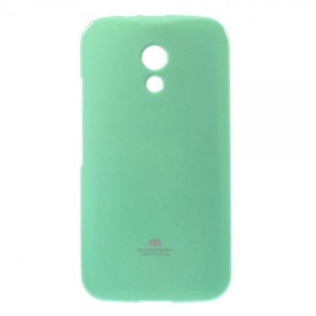 Goospery - Motorola Moto G (2nd Gen) Handy Hülle - TPU Soft Case - Pearl Jelly Series - mint