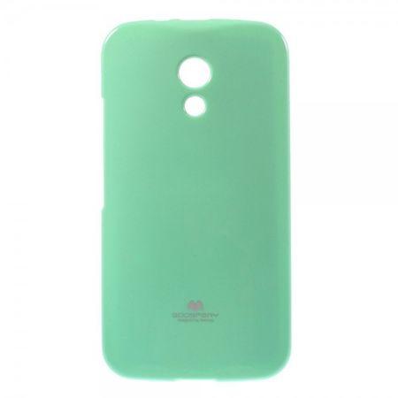 Motorola Moto G (2 Gen) Mercury Goospery Leicht glitzerndes, elastisches Plastik Case - cyan