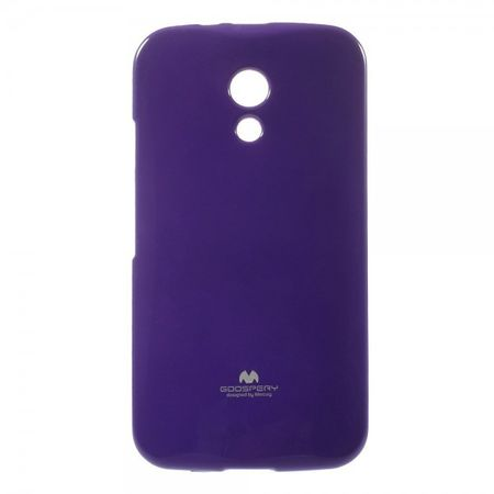 Goospery - Motorola Moto G (2nd Gen) Handy Hülle - TPU Soft Case - Pearl Jelly Series - purpur