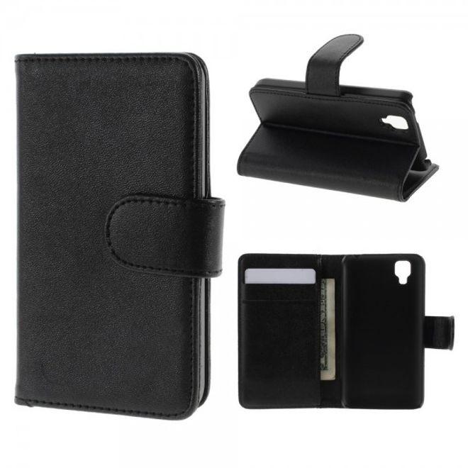 Wiko Goa Leder Flip Case mit Standfunktion - schwarz