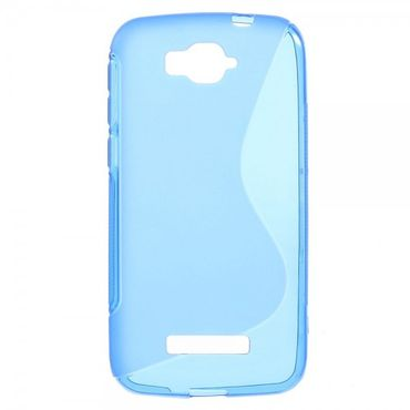Alcatel One Touch Pop C7 Elastisches Plastik Case S-Shape - blau