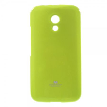 Goospery - Motorola Moto G (2nd Gen) Handy Hülle - TPU Soft Case - Pearl Jelly Series - lime