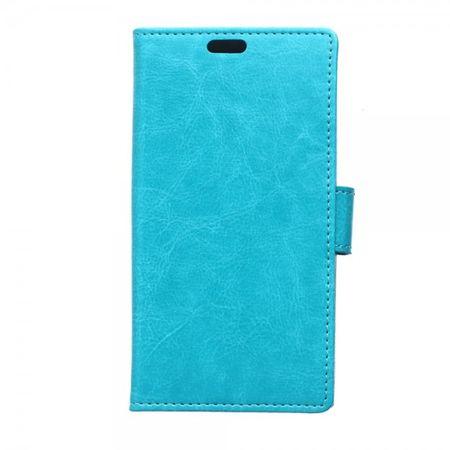 Sony Xperia M4 Aqua Schickes Crazy Horse Leder Case - blau