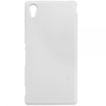 Sony Xperia M4 Aqua Mattes Hart Plastik Case inklusive Schutzfolie von Nillkin - weiss