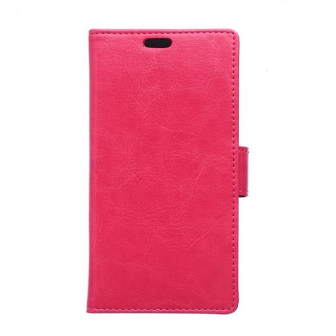 Huawei P8 Schickes Crazy Horse Leder Case mit Standfunktion - rosa