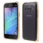 Samsung Galaxy J1 Passgenauer Metall Bumper - champagnerfarben