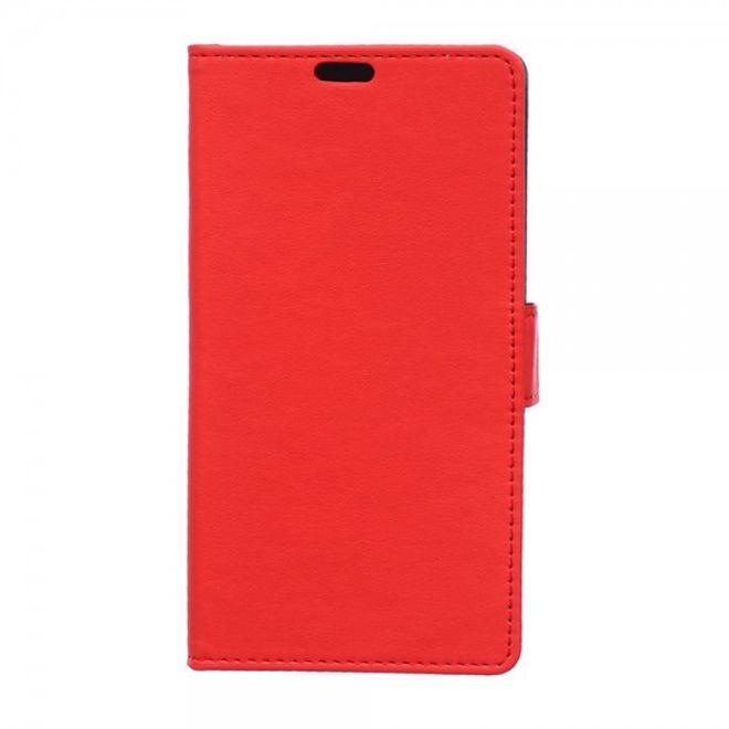 Sony Xperia Z4/Z3+/Z3+ Dual Klassisches Leder Case mit Kreditkartenslots - rot
