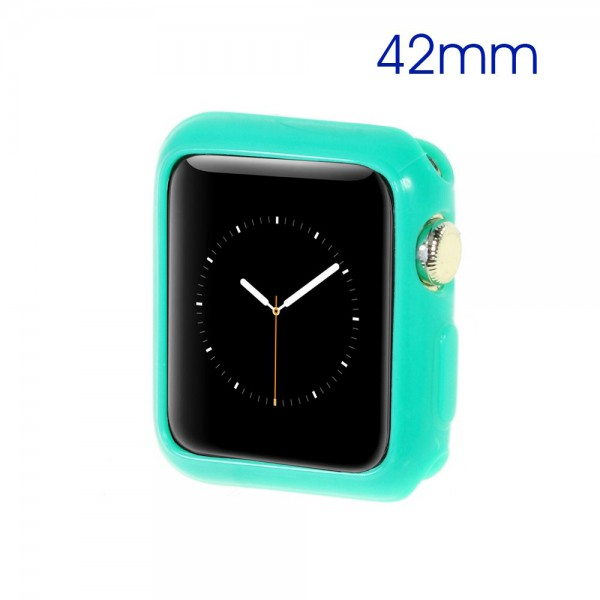 Apple Watch 42mm Elastisches, gelartiges Plastik Case - cyan