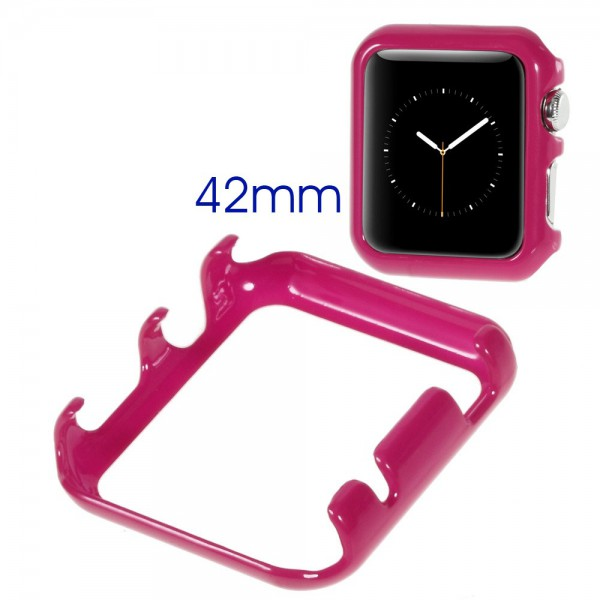 Apple Watch 42mm Glänzendes Hart Plastik Case - rosa