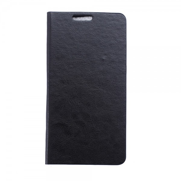 BlackBerry Leap Crazy Horse Leder Case mit Standfunktion - schwarz