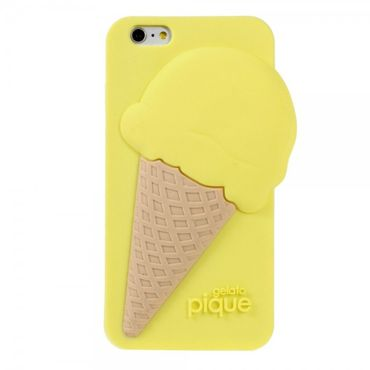 iPhone 6/6S 3D Silikon Case im Eiscreme Look - gelb