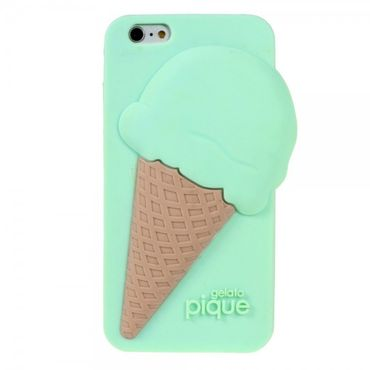 iPhone 6/6S 3D Silikon Case im Eiscreme Look - cyan
