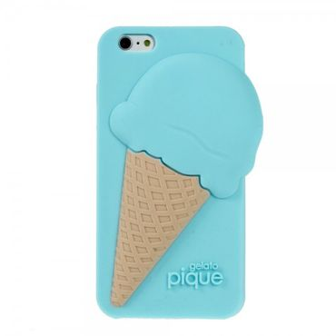 iPhone 6/6S 3D Silikon Case im Eiscreme Look - blau
