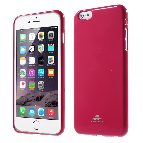 Newsets iPhone 6 Plus/6S Plus Newsets Mercury Leicht glänzendes, elastisches Plastik Case - rosa