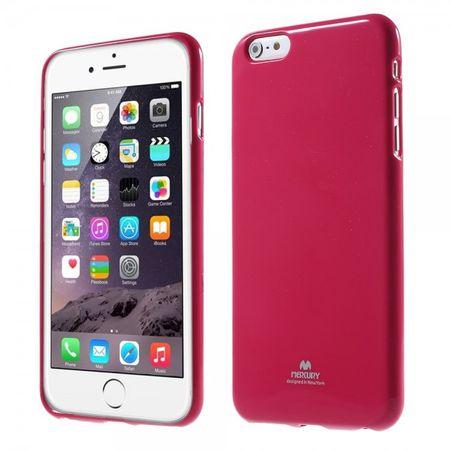 iPhone 6 Plus/6S Plus Newsets Mercury Leicht glänzendes, elastisches Plastik Case - rosa