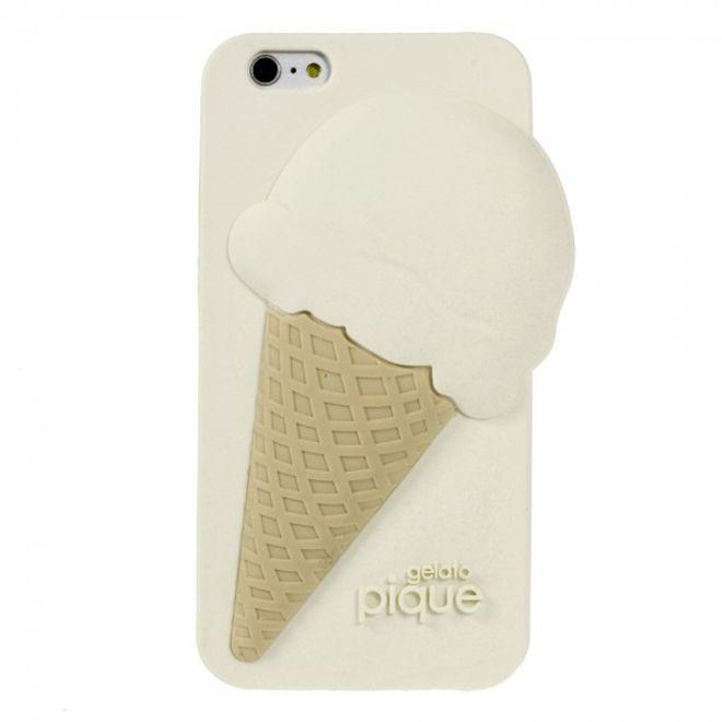 iPhone 6 Plus/6S Plus 3D Silikon Case im Eiscreme Look - beige