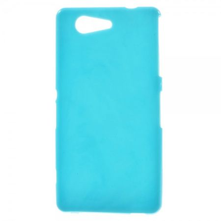 Sony Xperia Z3 Compact Elastisches, leicht glänzendes Plastik Case - blau