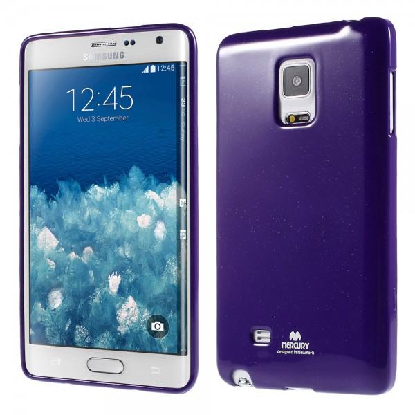 Newsets Samsung Galaxy Note Edge Newsets Mercury Elastisches, leicht glänzendes Plastik Case - purpur