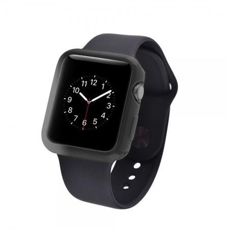 Apple Watch 38mm Ultradünnes (0.7mm), elastisches Plastik Case - schwarz