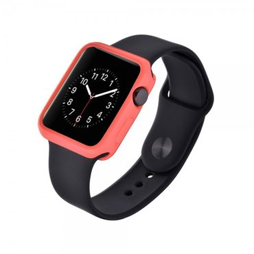 Apple Watch 38mm Ultradünnes (0.7mm), elastisches Plastik Case - pink