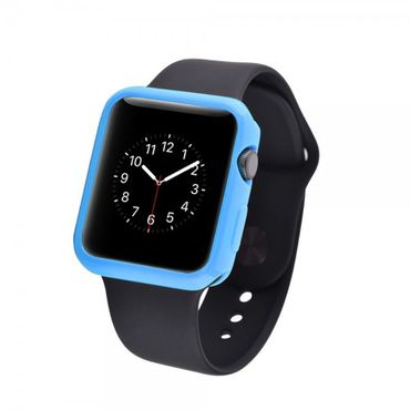 Apple Watch 38mm Ultradünnes (0.7mm), elastisches Plastik Case - blau