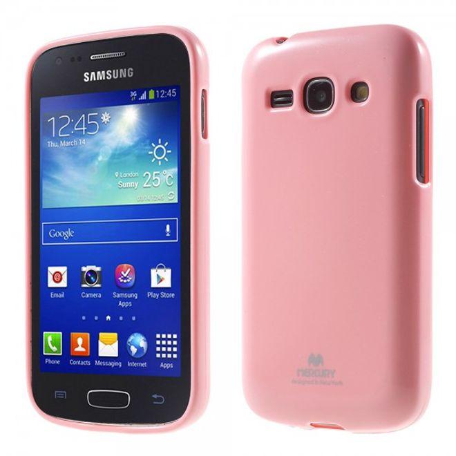 Newsets Samsung Galaxy Ace 3 Newsets Mercury Elastisches, leicht glänzendes Plastik Case - pink