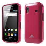 Samsung Galaxy Ace 1 (S5830) Newsets Mercury Elastisches, leicht glitzerndes Plastik Case - rosa