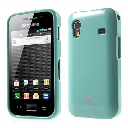 Samsung Galaxy Ace 1 (S5830) Newsets Mercury Elastisches, leicht glitzerndes Plastik Case - cyan