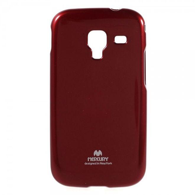 Newsets Samsung Galaxy Ace 2 Newsets Mercury Elastisches, leicht glänzendes Plastik Case - rot