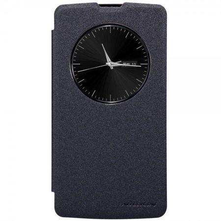 LG L Bello Nillkin Sparkle Series Leder Smart Case mit Öffnung - schwarz