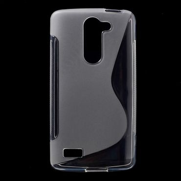 LG L Bello Elastisches Plastik Case S-Shape - transparent
