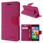 Goospery - Samsung Galaxy Grand Prime Hülle - Handy Bookcover - Canvas Diary Series - pink