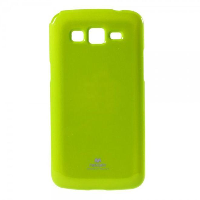 Newsets Samsung Galaxy Grand Prime Newsets Mercury Elastisches, leicht glänzendes Plastik Case - grün