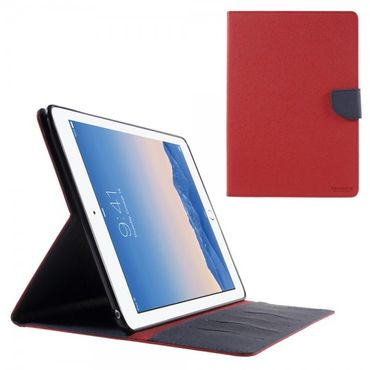 iPad Air 2 Newsets Mercury Leder Smart Case mit Kreuzmuster - rot