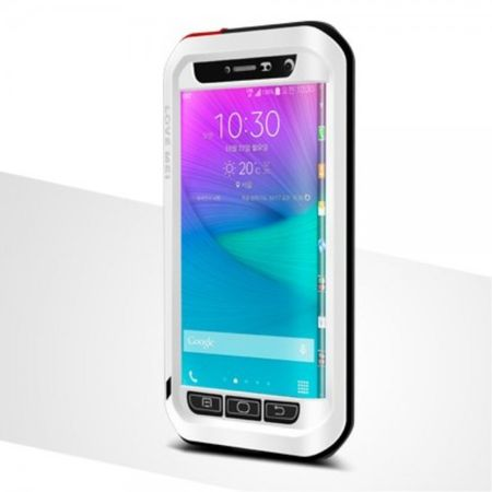 Samsung Galaxy Note Edge LOVE MEI Ultrarobustes Metall und Silikon Case - weiss