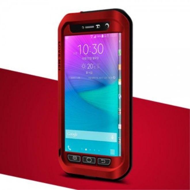 Love Mei Samsung Galaxy Note Edge LOVE MEI Ultrarobustes Metall und Silikon Case - rot