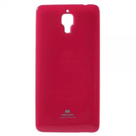 Xiaomi Mi4 Newsets Mercury Elastisches, leicht glänzendes Plastik Case - rosa