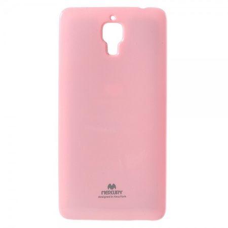 Xiaomi Mi4 Newsets Mercury Elastisches, leicht glänzendes Plastik Case - pink