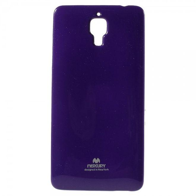 Newsets Xiaomi Mi4 Newsets Mercury Elastisches, leicht glänzendes Plastik Case - purpur