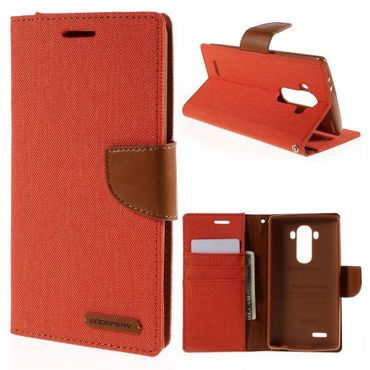 LG G4 Mercury Goospery Stoffartiges Leder Case - orange