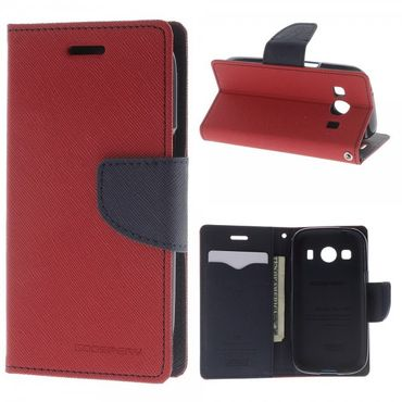 Samsung Galaxy Ace 4 Mercury Goospery Modisches Leder Case - rot